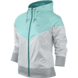NIKE FREE SPIN WINDRUNNER WOMEN'S RUNNING JACKET WAS $80 TURQUOISE