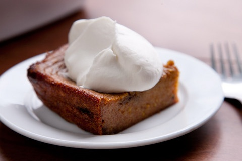 My Favorite Fall Dessert // Boozy Persimmon Pudding