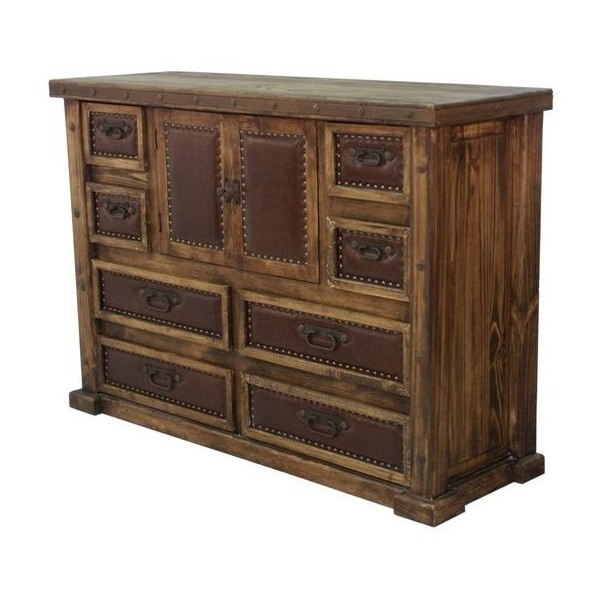 Rustic Rancher Bedroom Set | Southwestern Bedroom Furniture Ranch... ($2,399) ❤ liked on Polyvore