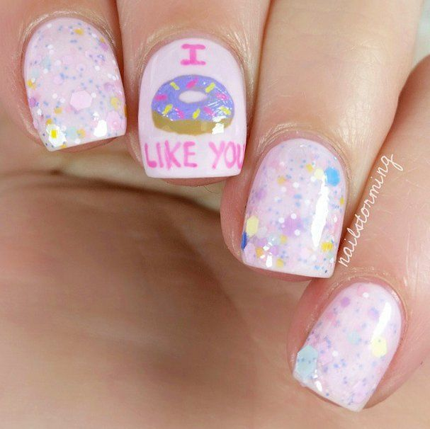Pin for Later: 30 Doughnut Nail Art Designs That Will Satisfy Your Sweet Tooth I Doughnut Like You