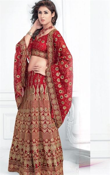 Picture of Gorgeous Maroon color Designer Wedding Lehenga Choli