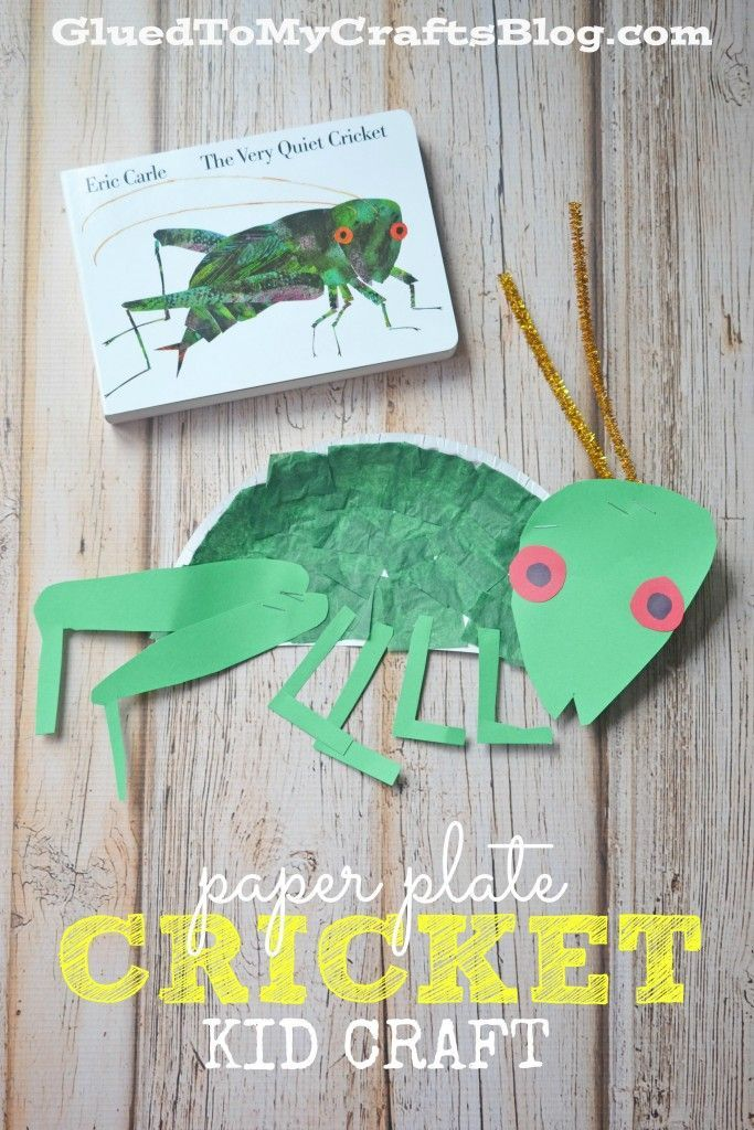 Eric Carle Paper Plate Cricket - Kid Craft