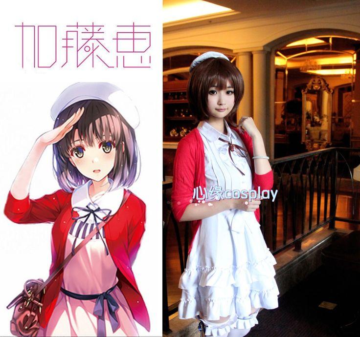 [Stock] Anime Saekano Saenai Heroine no Sodatekata Figure Kato megumi cosplay full set white dress S-XL free ship NEW 2017 #Affiliate