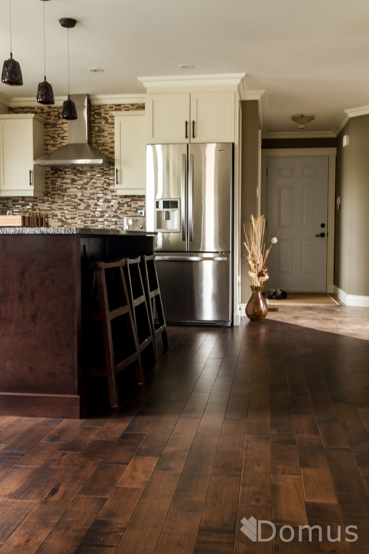 hardwood hardwood floors in kitchen Dark hardwood flooring in open kitchen