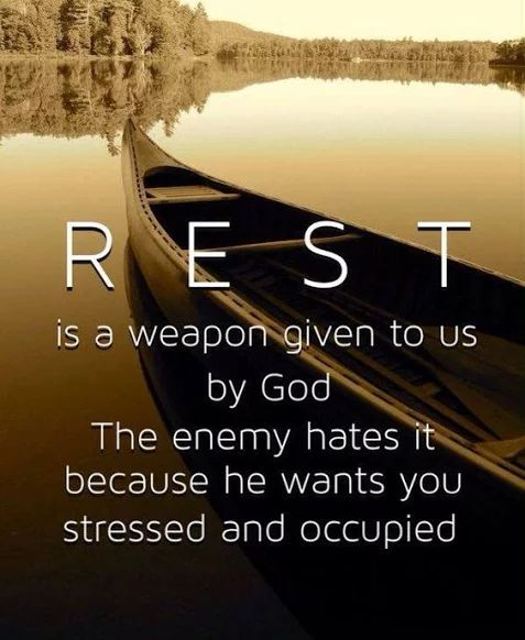 REST was God's idea, He rested on the 7th day!