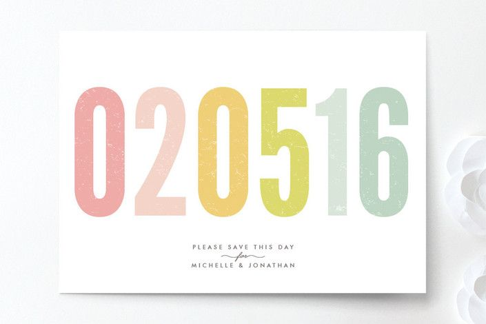 Ice Cream Parlour Pastels Save the Date Cards by Phrosné Ras at minted.com