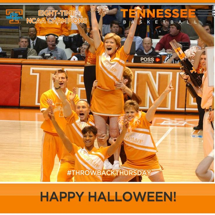 Tennessee Lady Vols Basketball In honor of Throwback Thursday and Halloween, we bring you this photo of Pat Summitt, Holly Warlick, Dean Lockwood and Nikki Caldwell, performing as cheerleaders to inspire the Vols to an 86-76 victory over No. 5 Florida on Feb. 27, 2007.