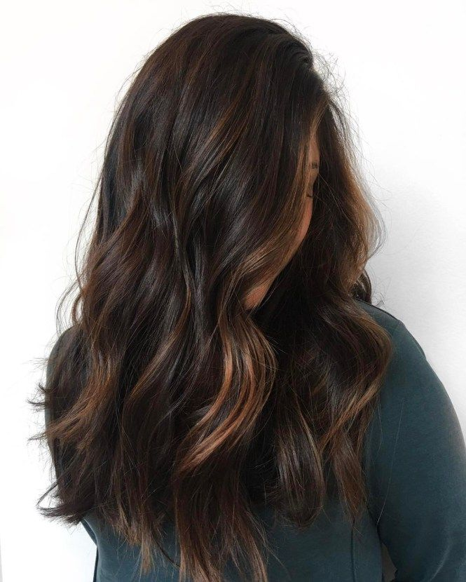 Rich Brown Hair With Copper Streaks