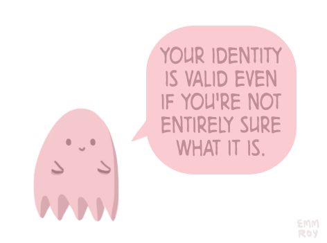 Your identify is valid even if you're not entirely sure what it is.   Whoever you are, you are you. Even if this is just a phase or pretend, if you treat it as real others should too.