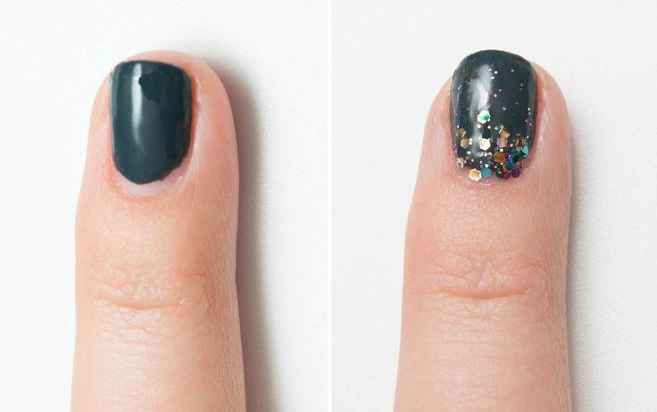 Nascondi una manicure ormai datata creando un effetto scintillio con lo smalto a partire dalla base delle tue unghie - cosmopolitan.it