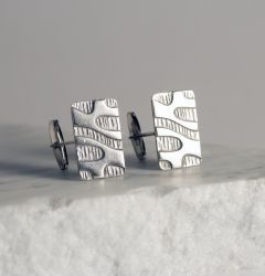 Silver mid-century cufflinks