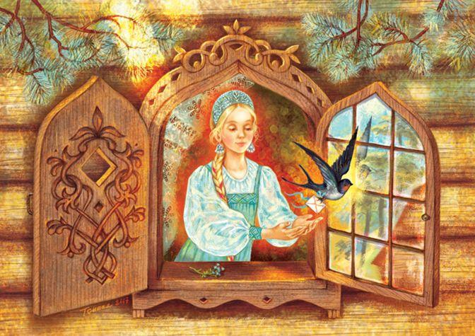 Просмотреть иллюстрацию Ласточкина почта из сообщества русскоязычных художников автора Таня Сытая / Tanya Sitaya в стилях: Книжная графика, нарисованная техниками: Растровая (цифровая) графика.