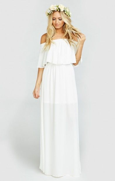 Hacienda Maxi Dress ~ Ivory Crisp | Show Me Your MuMu