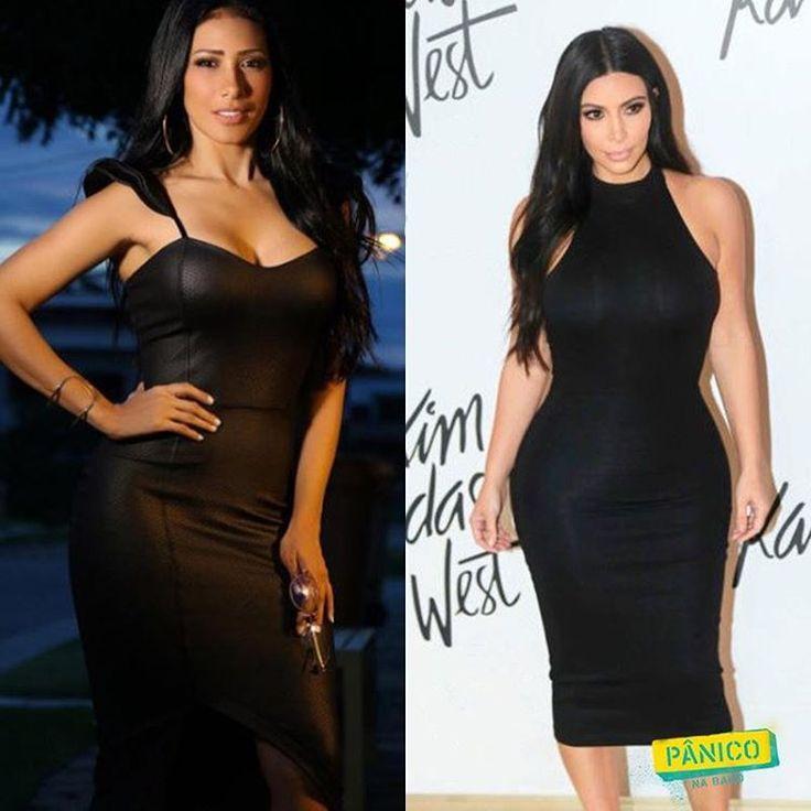 Quem é a Kim Kardashian e quem é a @simaria na foto? O Vesgo e a Sabrina entrevistaram uma delas. Qual vocês acham mais gata?