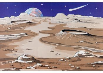 Space Playmat. Children can rocket into space with this colourful space play mat.