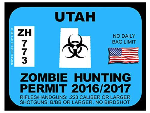 17 best images about zombie hunting permits on pinterest for Utah non resident fishing license