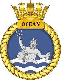 HMS Ocean (L12) badge