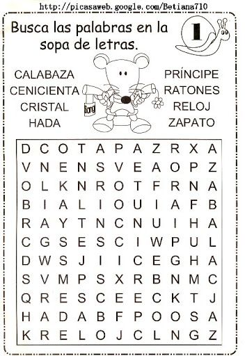 152 mejores im genes sobre sopa de letras para ni os en for De que lengua proviene la palabra jardin
