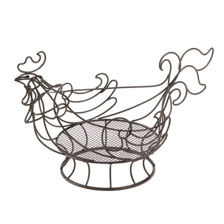 Country Rooster Basket A Delightful Way To Store And Display A Variety Of Decorative  Kitchen Items. Curved Copper Colored Wire Shapes An Adorable Rooster ...