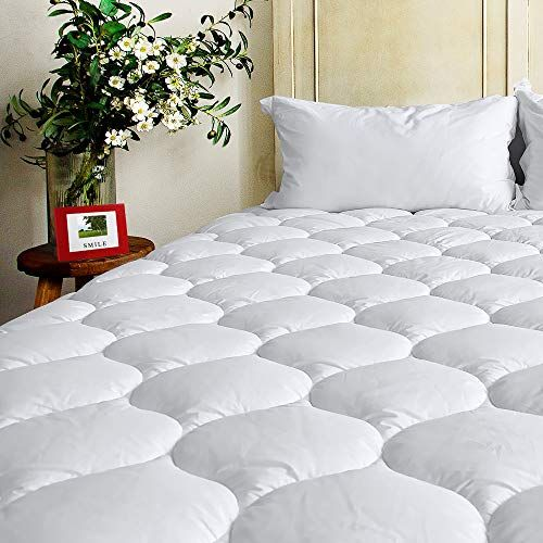 Bel Tesoro Quilted Extra Plush Mattress Pad King Combed Cotton