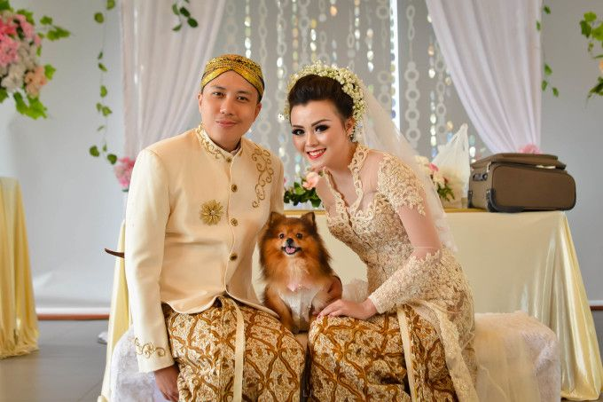 Share your happinese with your beloved furry   Rustic Ballroom Wedding With A Traditional Flair   http://www.bridestory.com/blog/rustic-ballroom-wedding-with-a-traditional-flair
