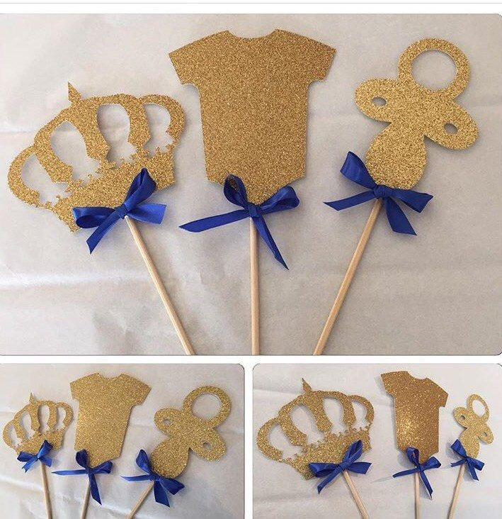 Royal Prince Centerpieces, prince centerpieces picks, royal prince baby shower, royal prince party