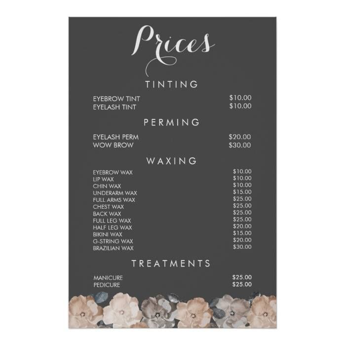 Yellow tuesdays hair club beauty salon lima ohio prices for hair cuts h of hair color price in for Nail salon price list template