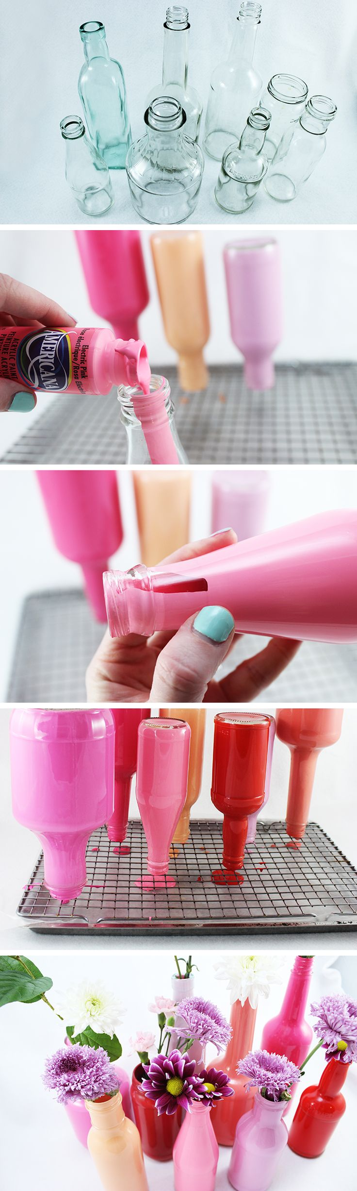 DIY Painted Glass Bottle Vases 503 best