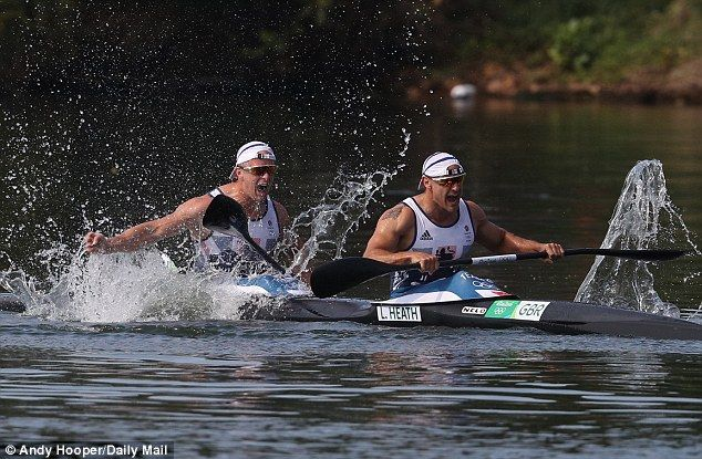Great Britain's Liam Heath and Jon Schofield take silver in Olympic men's kayak…