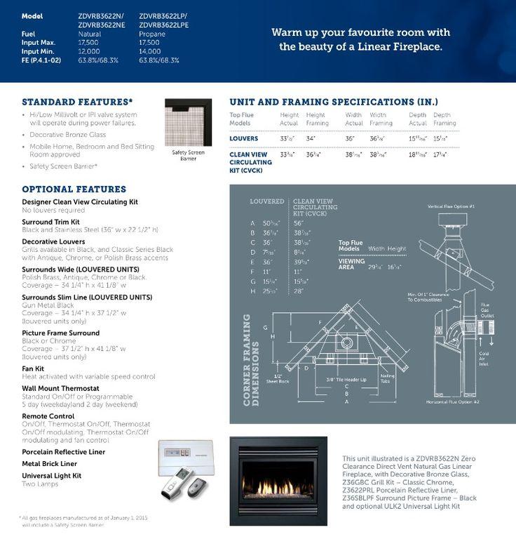 Basement fireplace Kingsman ZDVRB3622N