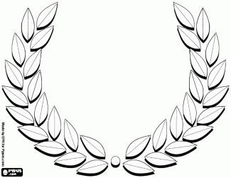 Ancient Greek Olympics Coloring Pages Olympic Crown Of