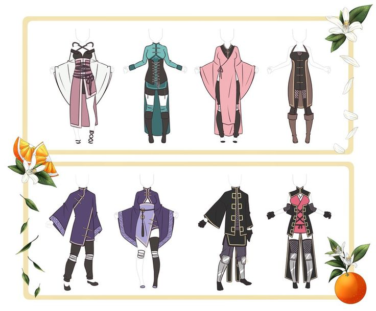 Adoptable Outfit Set 24 - Closed by Orangenbluete ...