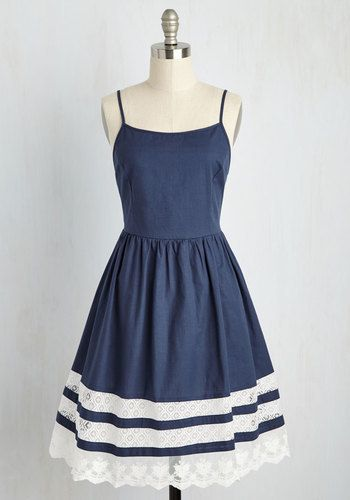 Esley She and Trim Dress in Navy