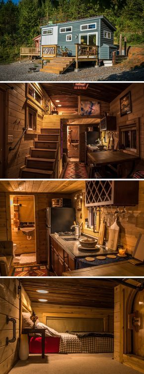 Located 20 minutes outside of Chattanooga, TN, this tiny house was handcrafted with recycled materials and has a rooftop deck.