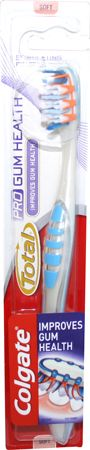 Colgate Total Pro Gum Health Toothbrush Soft Colgate Total Pro Gum Health Toothbrush Soft: Express Chemist offer fast delivery and friendly, reliable service. Buy Colgate Total Pro Gum Health Toothbrush Soft online from Express Chemist today! (B http://www.MightGet.com/january-2017-11/colgate-total-pro-gum-health-toothbrush-soft.asp