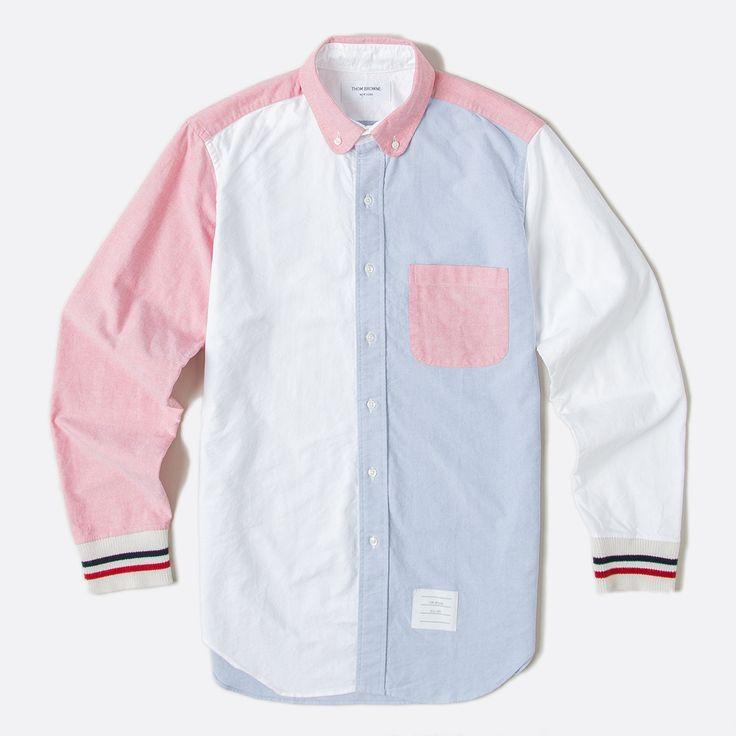 Thom Browne Red White Blue Oxford Shirt