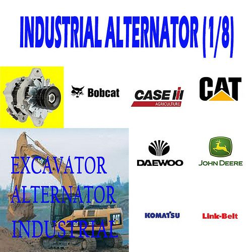 INDUSTRIAL ALTERNATOR (1/8) EXCAVATOR ALTERNATOR