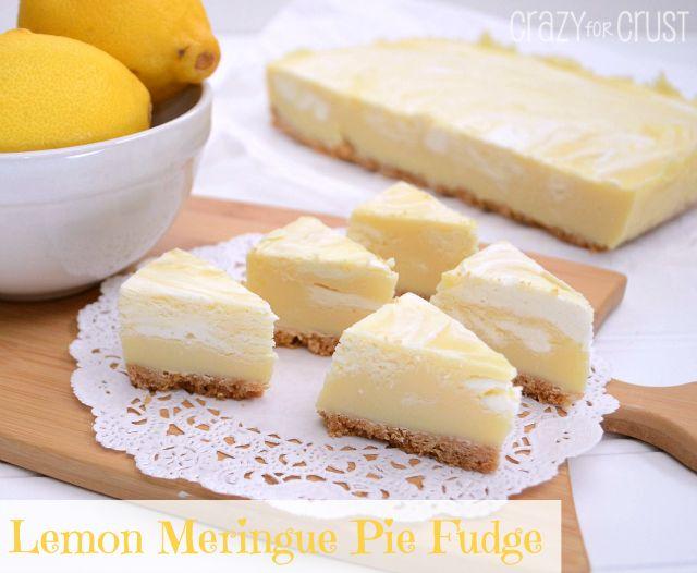 Wonderful DIY Lemon Meringue Pie Fudge   WonderfulDIY.com