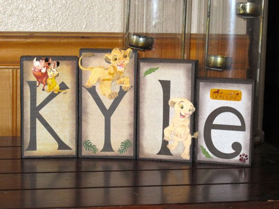 Lion King Nursery Decor Lion King Name Blocks by KDragonflyDesigns, $9.50