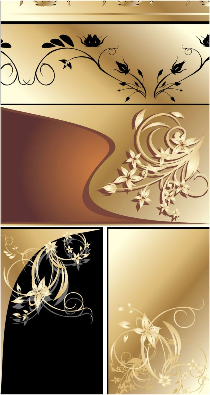 Tj initial luxury ornament monogram logo stock vector - Cards With Gilded Floral Elements Vector