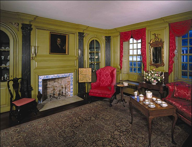 Hunter house newport ri my 18th century house for 18th century farmhouse interiors
