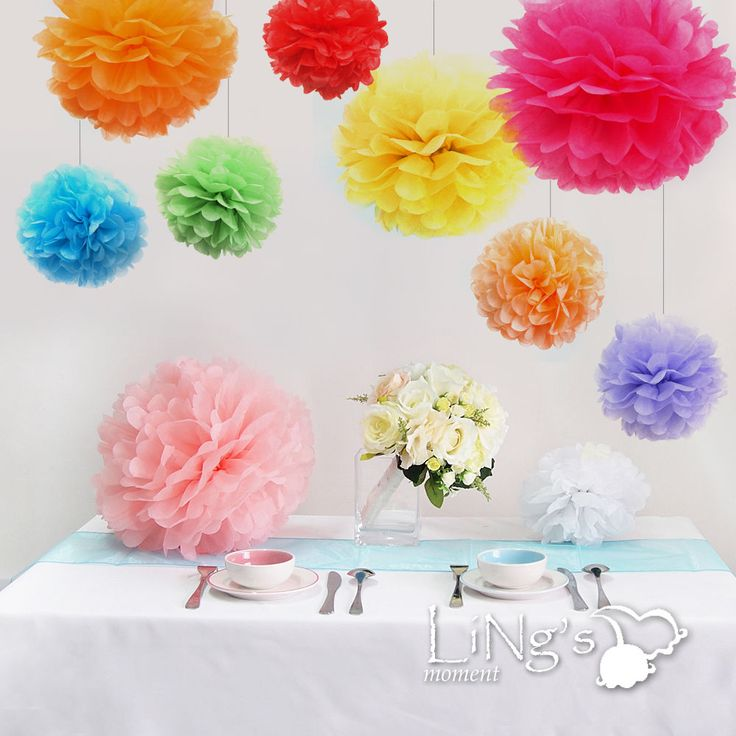 Paper Flower Balls For Wedding Flower Balls Decor Wedding Pinterest Flower Ball Paper Pom Poms