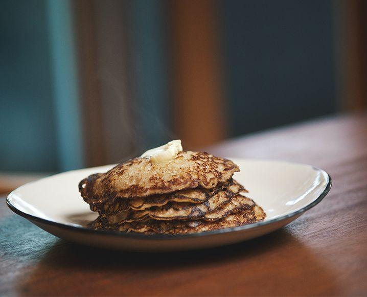 Brown rice quinoa pancakes