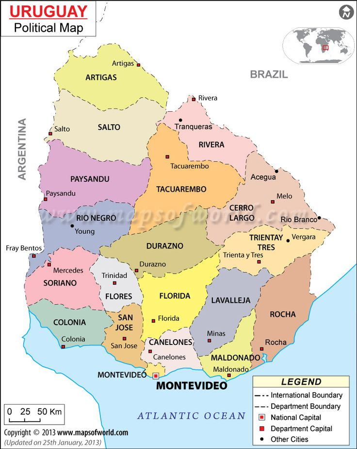 Best Map Of Uruguay Ideas On Pinterest Uruguay Map - Map of uruguay