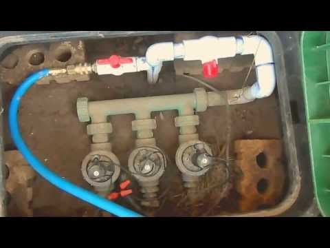 How to Blow-out Lawn Sprinkler (Irrigation) System & Prepare for Winter (Plumbing Tutorial) - YouTube