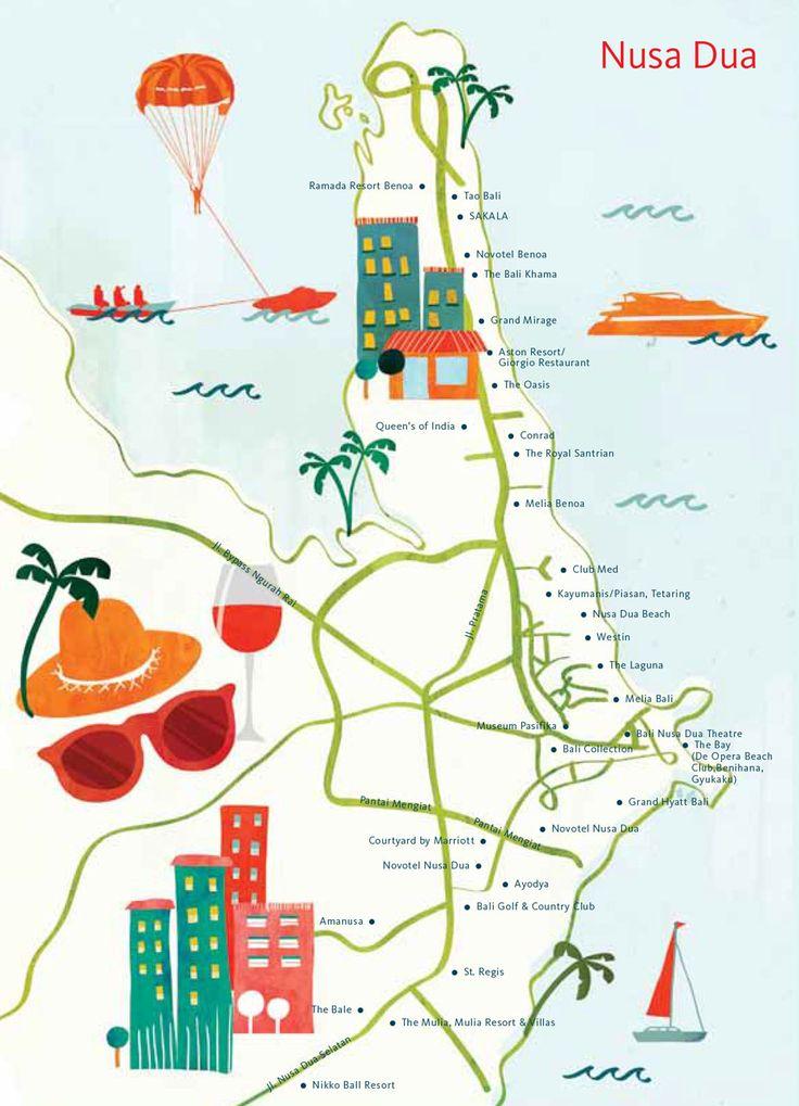 Astrid Prasetianti - Map of Nusa Dua, Bali for hellobali magazine
