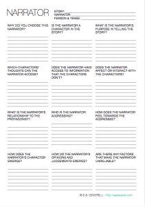 Narrative worksheet