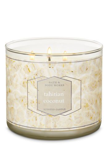 tahitian coconut 3 wick candle by bath body works in 2019 rh pinterest com
