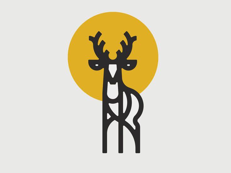 Deer by Peter Komierowski #Design Popular #Dribbble #shots