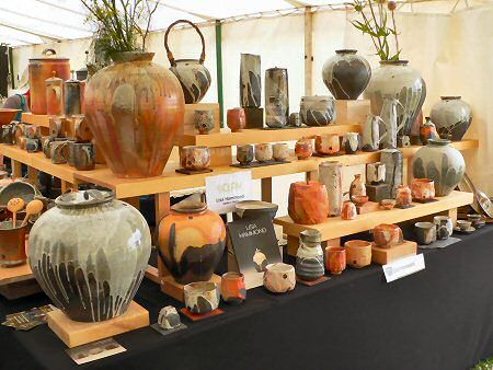 Lisa Hammond Pottery Booth.